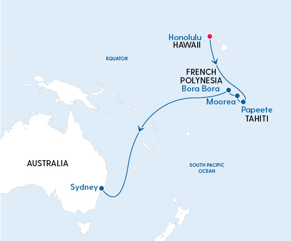Radiance of the Seas Hawaii to Sydney in 2022 - Gallery Image