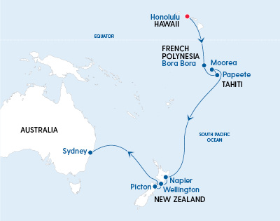 Ovation of the Seas Hawaii to Sydney in 2022 - Gallery Image