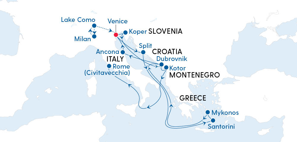 Italian Lakes, Croatia & The Greek Islands Image 4