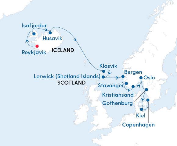 Magical Light of the Arctic – Reykjavik to Copenhagen with Regent Seven Seas Image 4