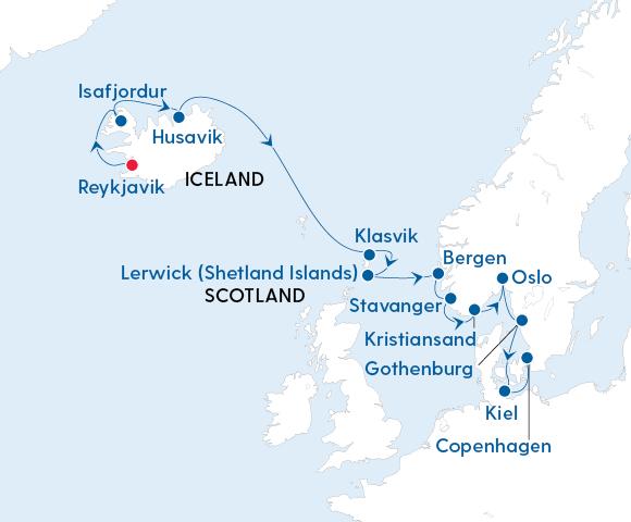 Magical Light of the Arctic – Reykjavik to Copenhagen with Regent Seven Seas Image 4