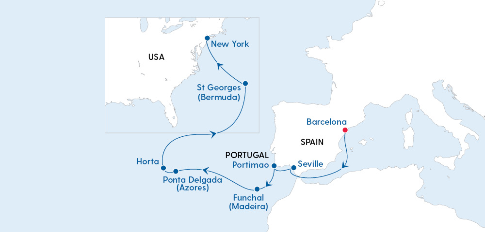Luxury Trans-Atlantic Journey Barcelona to New York with Regent Seven Seas Image 4