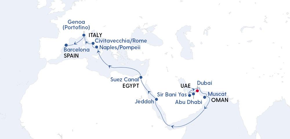 Grand Voyage Dubai to Barcelona in 2023 Image 4