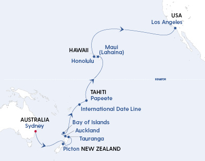 Majestic Pacific Journey – Sydney to Los Angeles - Gallery Image