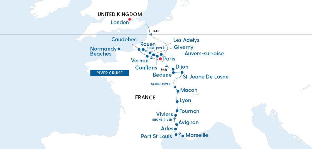 Discover London, Paris and the Grand Waterways of France Image 4